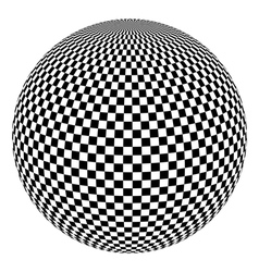 black and white 3d ball vector image