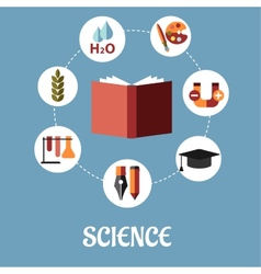 Education and science flat design vector image vector image