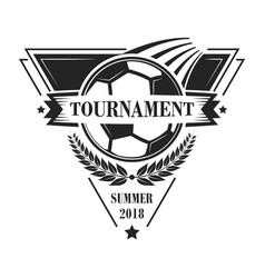 football tournament logotype or emblem in retro vector image vector image