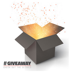 giveaway competition template open box vector image vector image