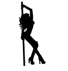 High quality girlstriptease poledance vector image
