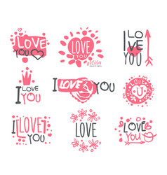 Romantic i love you message for st valentines day vector