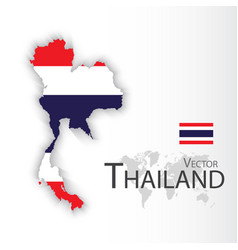thailand flag and map vector image vector image