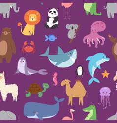 cartoon animals wildlife wallpaper zoo wild vector image vector image