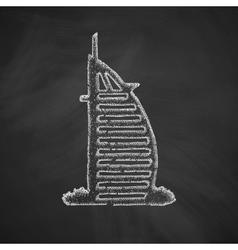 dubai building icon vector image