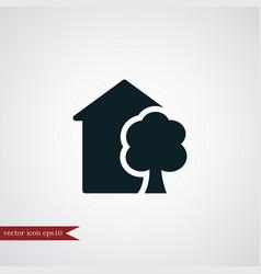 Eco house icon simple vector