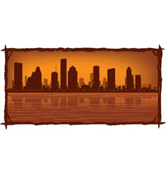 houston skyline vector image vector image