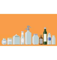 Jars and bottles vector image vector image