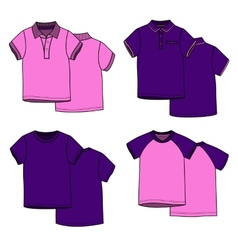 Pink and puple t-shirts vector image vector image