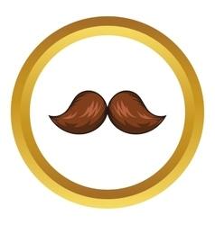 Retro hipster mustache icon cartoon style vector image