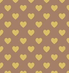 Seamless polka dot dark brown pattern vector image vector image