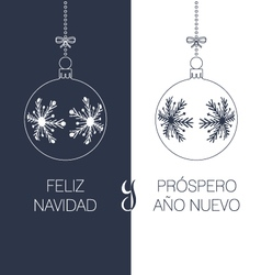 spanish christmas and new year greeting card vector image vector image