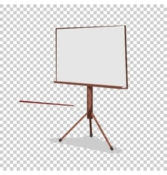 White board for presentation in an office and vector image vector image