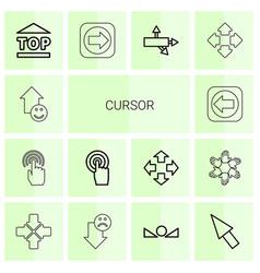 14 cursor icons vector