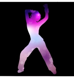 A dancing girl vector