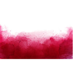 Abstract cherry red watercolor background vector