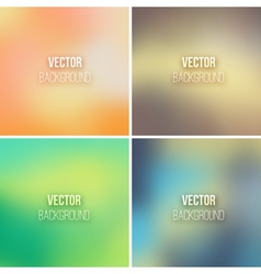 Abstract colorful blurred backgrounds set 15 vector