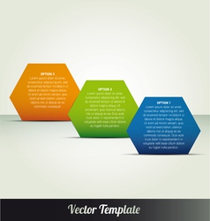 abstract page option templates vector image
