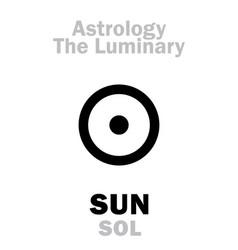 Astrology luminary sun sol vector