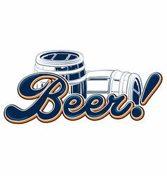 barrel irish beer vector image