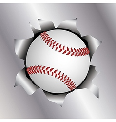 Baseball threw metal sheet vector