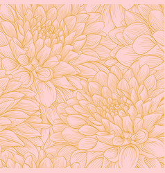 beautiful seamless background with pink dahlia vector image