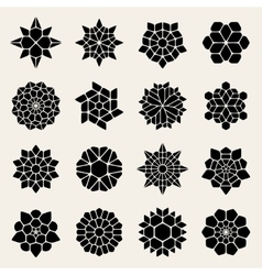 Black And White Mandala Lace Ornaments vector