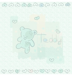 blue teddy vector image