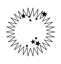 Boom explosion isolated icon vector