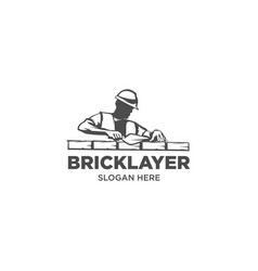 Bricklayer logo vector
