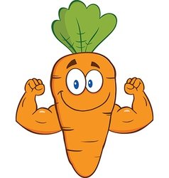 Cartoon carrot vector image