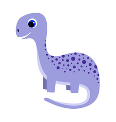 Cartoon little dinosaur isolated on white vector