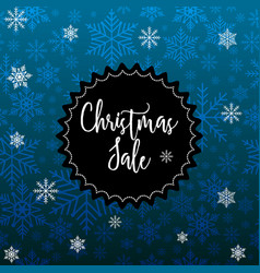 christmas sale poster special offer discount vector image