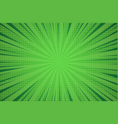 Comic dynamic green background vector