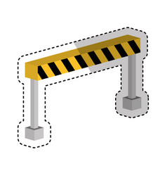 Construction barrier isometric icon vector
