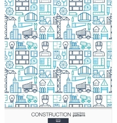 Construction wallpaper Build connected seamless vector image