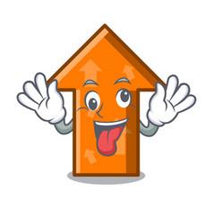 Crazy arrow mascot cartoon style vector