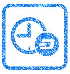 Dash credit time framed stamp vector