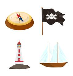 Design marine and adventure symbol set vector
