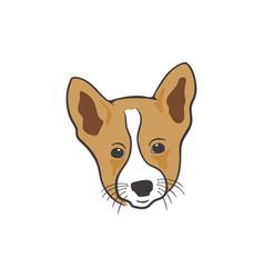 dog head icon silhouette retro style colorful vector image