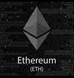 Ethereum cryptocurrency background vector
