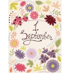 First september background vintage vector