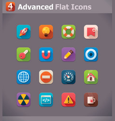Flat UI icons vector