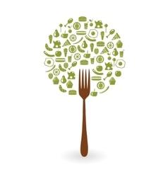 foods tree vector image