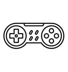 Game controller icon outline style vector