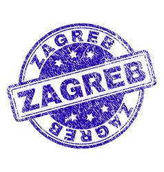 Grunge textured zagreb stamp seal vector