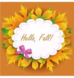 Hello Fall vector image vector image