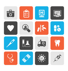 Hospital medical and healthcare icons vector