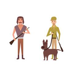 Hunters cartoon vector