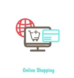 Infographics background E-commerce vector